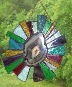stained glass agate slice