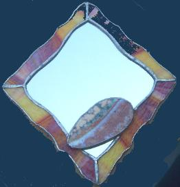 stained glass ocean jasper mirror