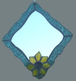 stained glass sunflower mirror